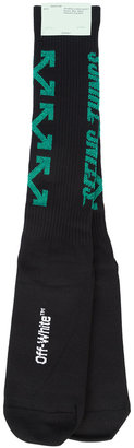 Off-White ribbed socks $95 thestylecure.com