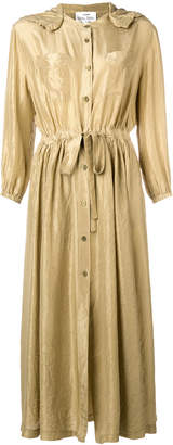 Forte Forte hooded maxi shirt dress