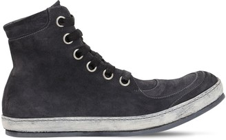 A Diciannoveventitre HANDMADE LEATHER REV HIGH TOP SNEAKERS