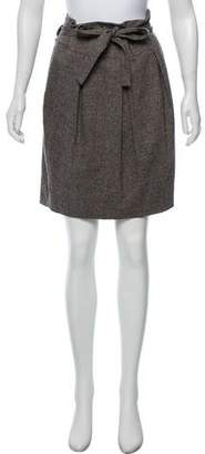 Robert Rodriguez Tweed Knee-Length Skirt