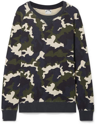 The Upside Sid Camouflage-print Cotton-terry Sweatshirt - Army green