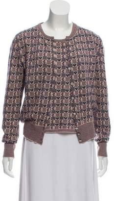 Chanel Cashmere Intarsia Cardigan Set