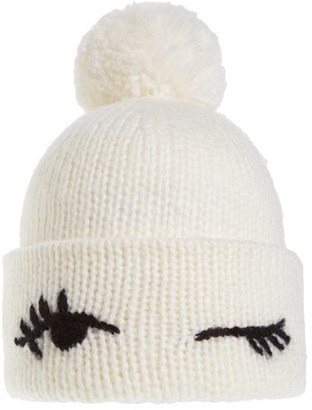 Women's Kate Spade New York Winking Beanie - Ivory $58 thestylecure.com