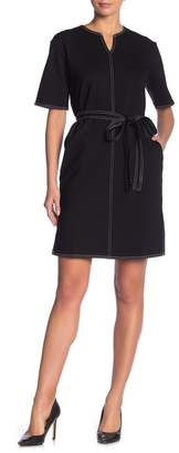Joe Fresh Belted Contrast Stitch Dress