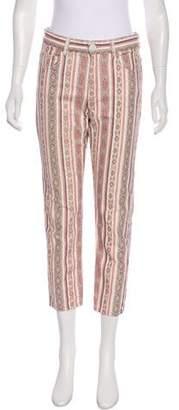 Etoile Isabel Marant Printed Mid-Rise Straight-Leg Jeans