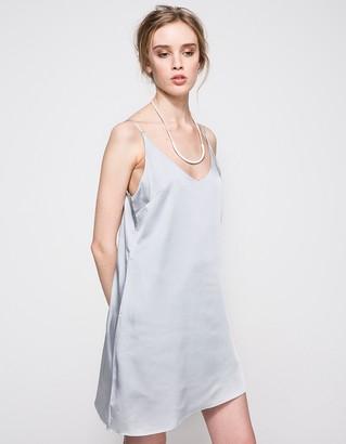 Carmen Slip Dress in Grey $88 thestylecure.com