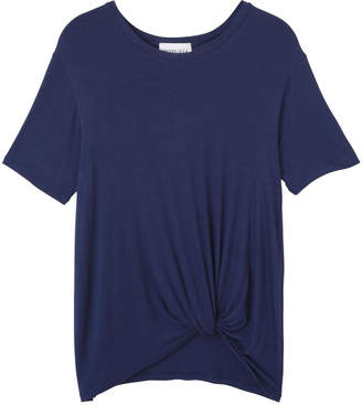 Olive & Oak Navy Knotted Tee Shirt $38 thestylecure.com