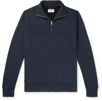 Oliver Spencer Loungewear Ribbed Cotton-Jersey Half-Zip Sweatshirt