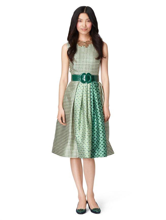 Oscar de la Renta Sleeveless Dress With Pleated Skirt
