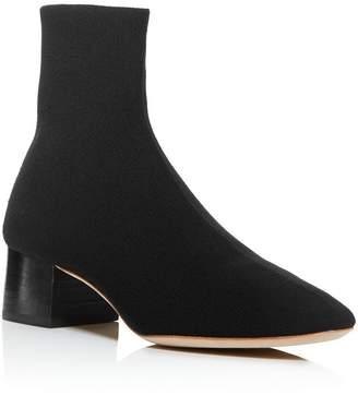 Loeffler Randall Women's Carter Pointed-Toe Knit Block Low-Heel Booties