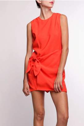 Line & Dot Tied Dress