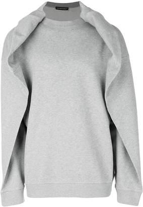 Y/Project Y / Project folded neck sweatshirt