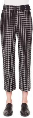 Akris Punto Ford Grid Jacquard Crop Pants