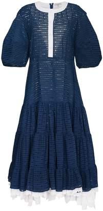 Natasha Zinko Oversize Sleeve Tiered Dress