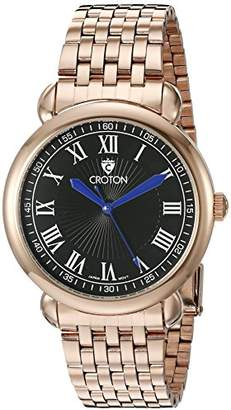 Croton Men's CN307532RGBK HERITAGE Analog Display Quartz Rose Gold Watch