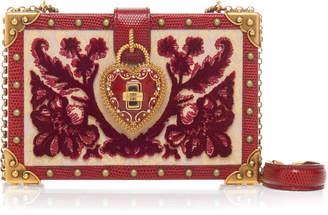 Dolce & Gabbana Heart Lock Wood Box Clutch