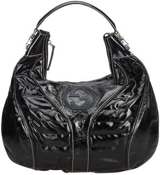 031a22356 Gucci Hobo Black Patent leather Handbag