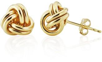 Auree Jewellery Onslow Gold Vermeil Double Knot Stud Earrings