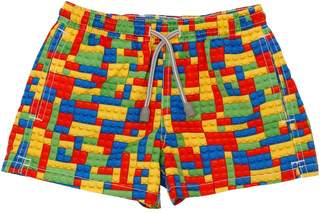 MC2 Saint Barth Lego Print Nylon Swim Shorts