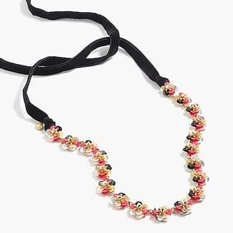 J.Crew Sequin daisy necklace