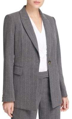 Donna Karan Striped Notch Lapel Jacket