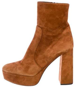 Prada Platform Suede Boots