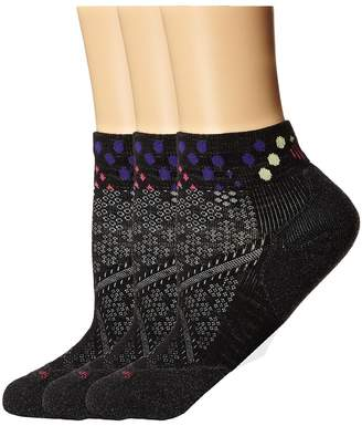Smartwool PhD Run Elite Low Cut Pattern 3-Pack Women's Low Cut Socks Shoes