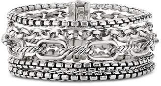 David Yurman Sterling Silver Multi-Row Chain Bracelet