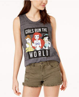 Mighty Fine Juniors' Disney-Princess Graphic Tank Top