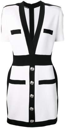 Balmain short button dress