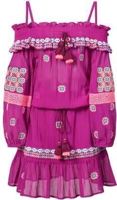 Figue Sofia cold-shoulder embroidered dress