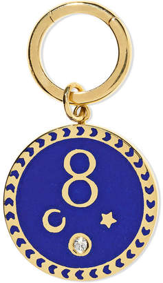 Foundrae - Karma 18-karat Gold, Diamond And Enamel Pendant