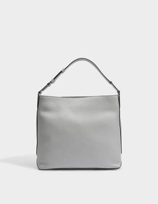 Lancel Max S Hobo Bag in Lichen Grained Leather