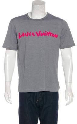 Louis Vuitton Graffiti Graphic T-Shirt