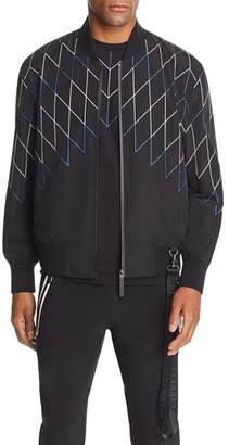 BLACKBARRETT by NEIL BARRETT Football Net-Print Bomber Jacket