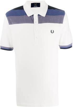 Fred Perry Towelling Panel Pique Polo Shirt