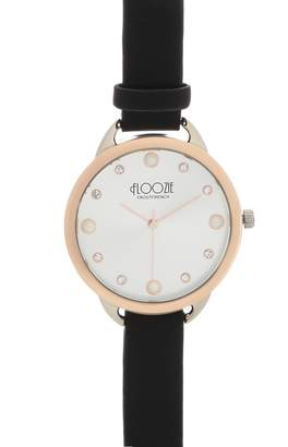 Floozie by Frost French Ladies Black Pearl And Diamante Embellished Watch