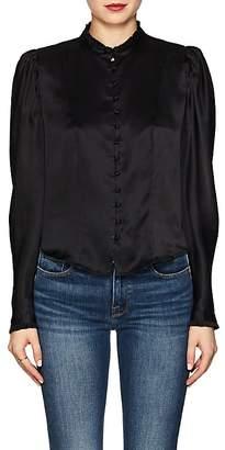 Frame Women's Silk Charmeuse Victorian Blouse