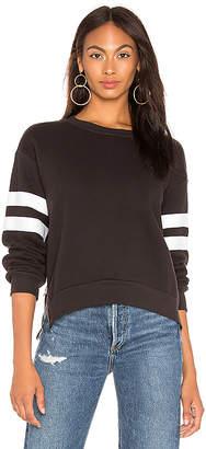 Sundry Side Zipper Crewneck Sweatshirt