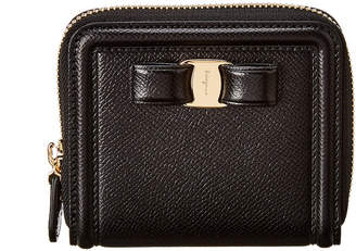 Salvatore Ferragamo Vara Bow Small Leather Zip Around Wallet
