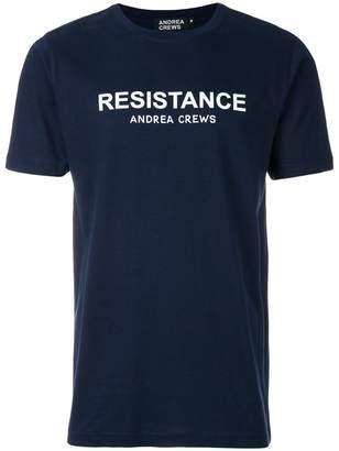 Andrea Crews slogan print T-shirt