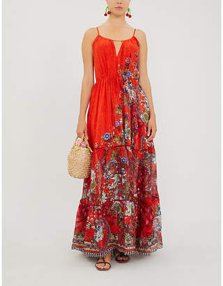 Camilla Wondering Waratah floral-print silk maxi dress