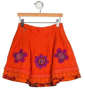 Catimini Girls' Corduroy Embroidered Skirt