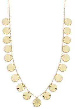 Gorjana Chloe Hammered Disc Charm Necklace
