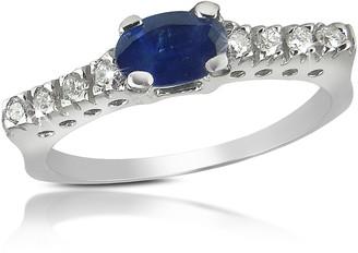 Tagliamonte Incanto Royale Sapphire and Diamond 18K Gold Ring