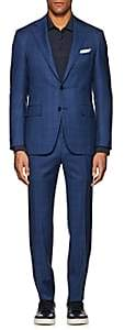 Canali Men's Capri Plaid Wool Two-Button Suit - Blue