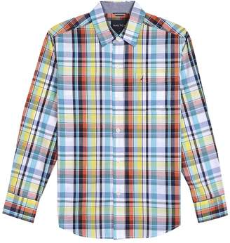 Nautica Little Boy's Long Sleeve Plaid Button Down Shirt With Stretch Shirt