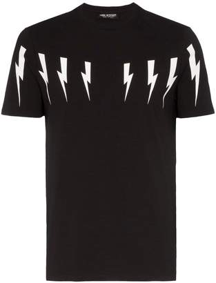 Neil Barrett Multi bolt stretch cotton T-shirt