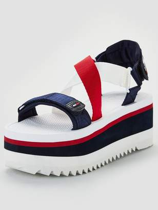 07a4270a9 Tommy Hilfiger Neoprene Sporty Flatform Sandals - Multi