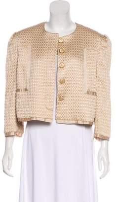 Just Cavalli Matelassé Cropped Jacket